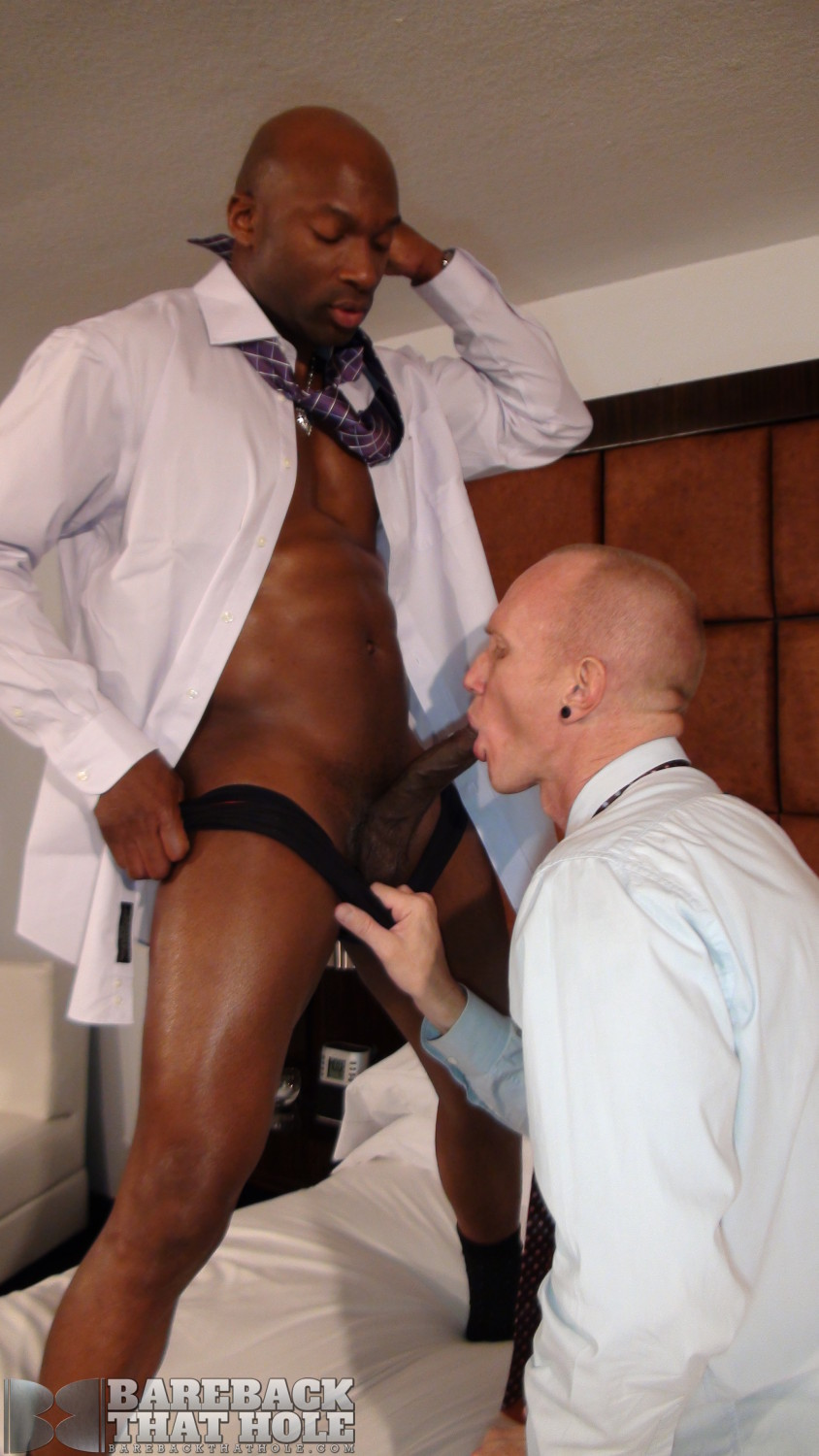 Bareback That Hole Champ Robinson and Mason Garet Interracial Big Black Cock Bareback Amateur Gay Porn 07 Black Corporate Executive Barebacks His White Co Worker