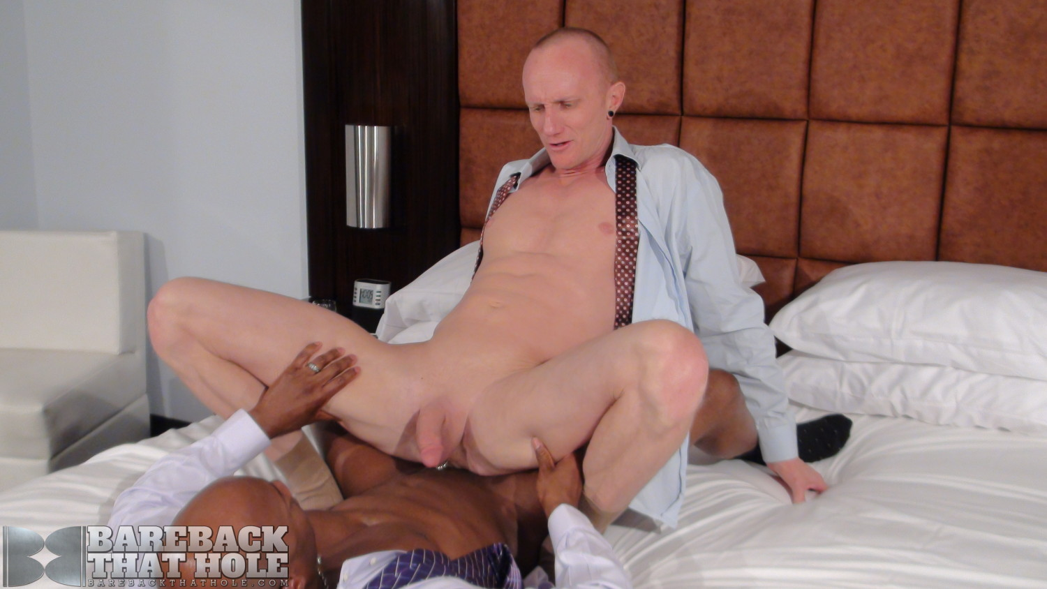 Bareback That Hole Champ Robinson and Mason Garet Interracial Big Black Cock Bareback Amateur Gay Porn 14 Black Corporate Executive Barebacks His White Co Worker