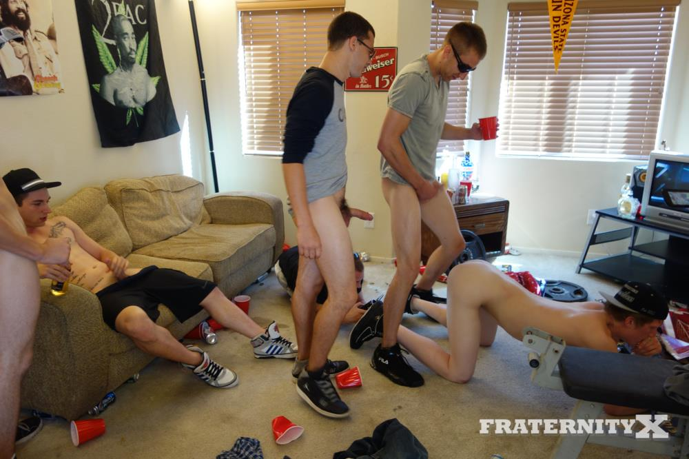 Fraternity X Naked Frat Guys Bareback Sex Party Big College Cock Amateur Gay Porn 08 Drunk Straight Frat Boys Bareback Fucking After The Superbowl
