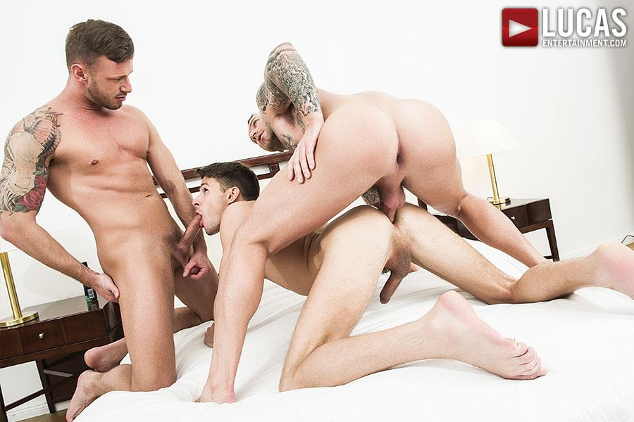 Lucas-Entertainment-Dylan-James-and-Logan-Rogue-and-Dmitry-Osten-Bareback-Threeway-Amateur-Gay-Porn-08 Dmitry Osten Takes A Raw Load In The Mouth And Ass