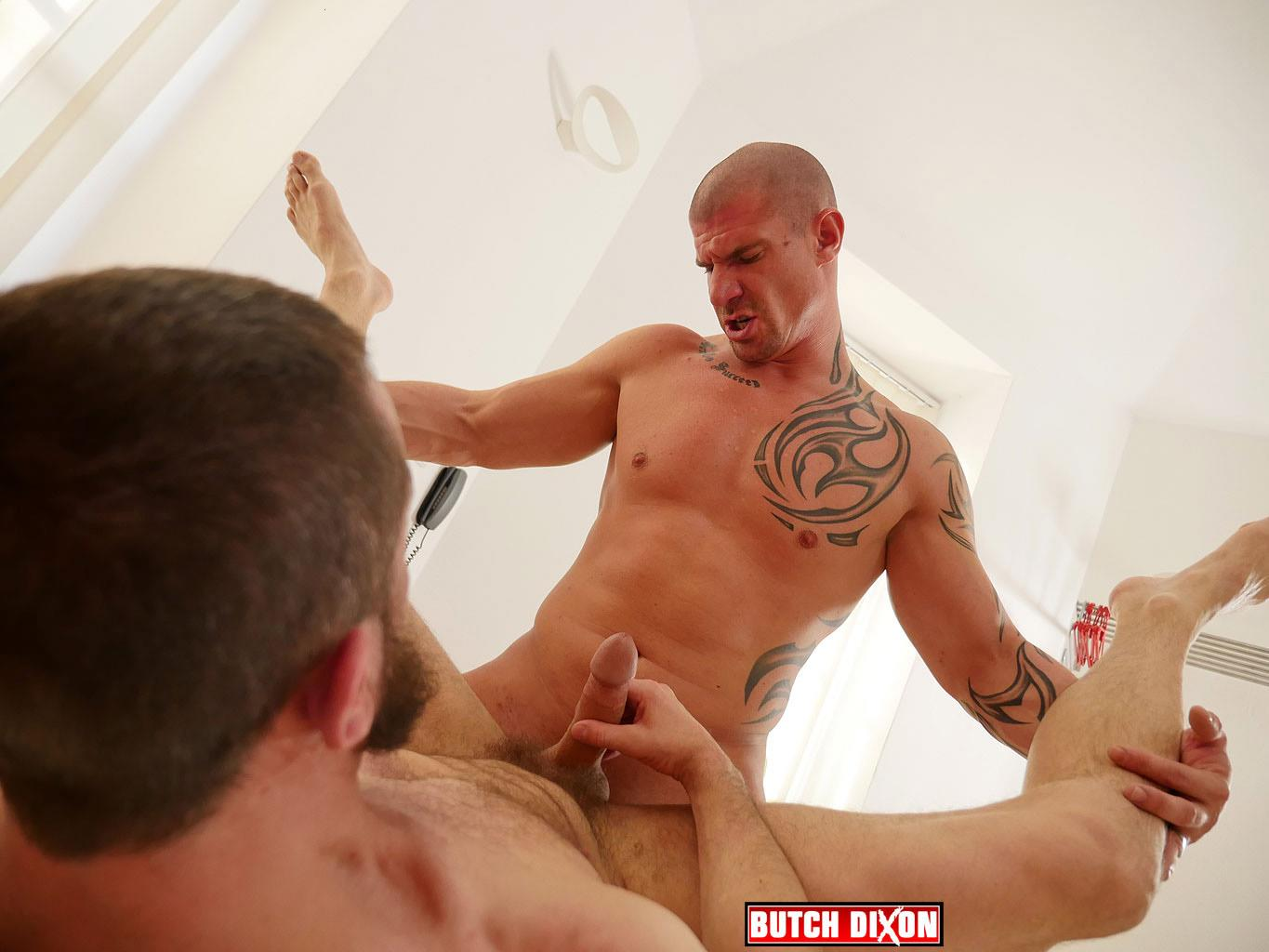 Butch-Dixon-Erik-Lenn-and-Mike-Bourne-Masculine-Guys-Fucking-Bareback-Amateur-Gay-Porn-18 Beefy Masculine Guys Fucking Bareback With A Big Uncut Cock