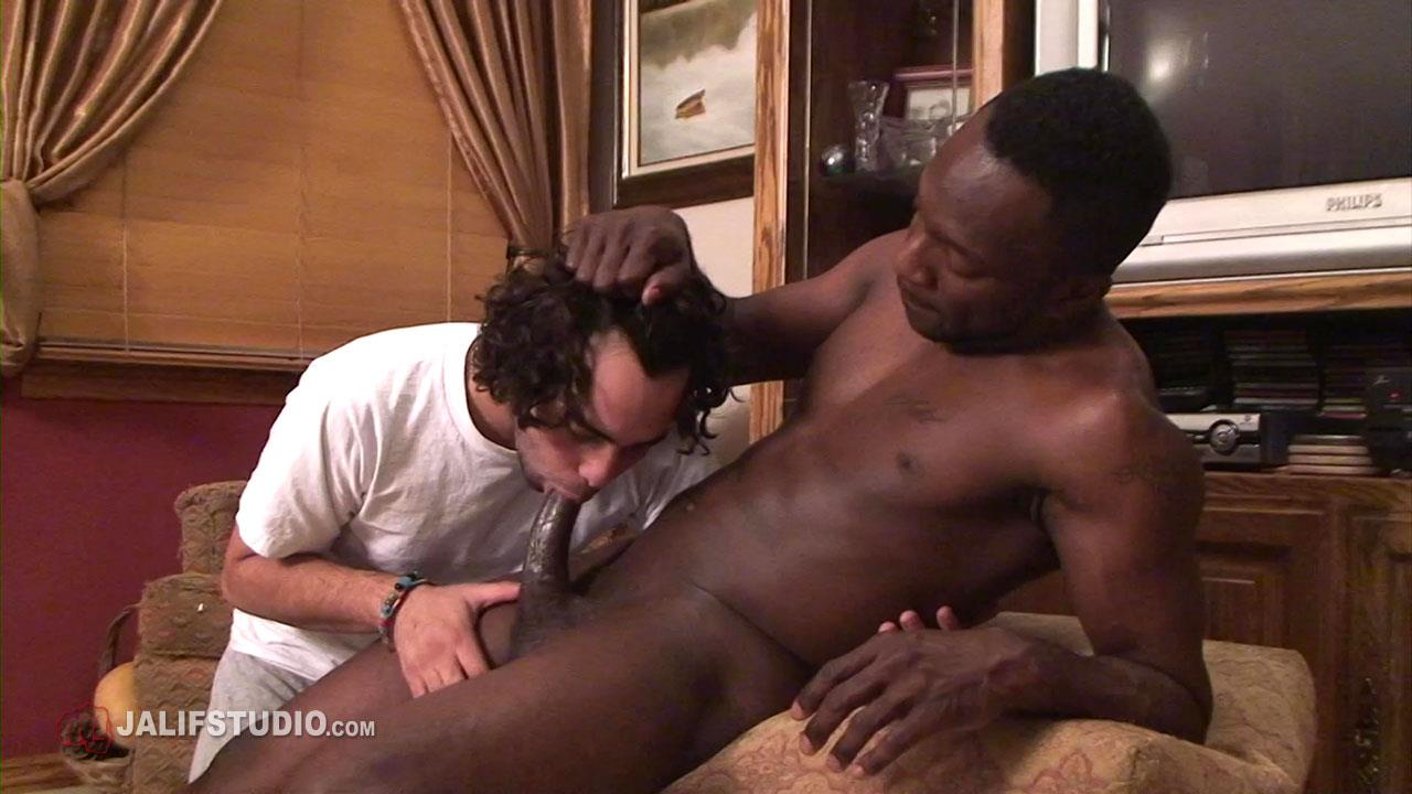 Jalif Studio Hot Boi and Gabriel Blue Interracial Bareback Fucking 13 Big Thick Black Cock Bareback Fucking A Hairy White Boys Ass