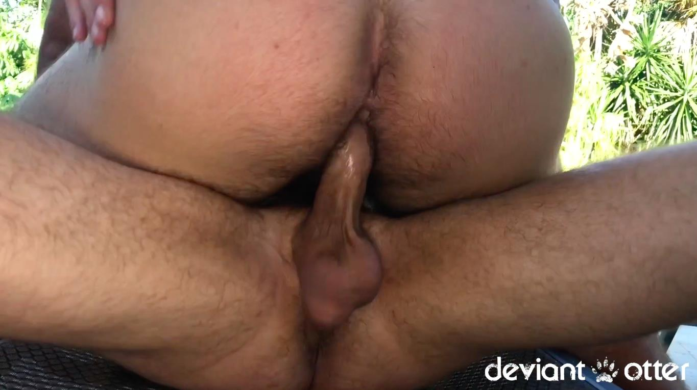 Deviant-Otter-Hairy-Guys-With-Big-Dicks-Fucking-Bareback-Outside-Video-12 Deviant Otter Barebacks His Hairy Jock Neighbor And Blasts His Face With Jizz